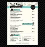 Restaurant Breakfast menu design Template layout
