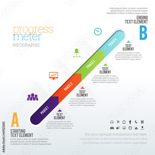 Progress Meter Infographic