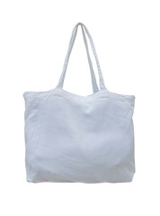Fabric bag isolated on white background