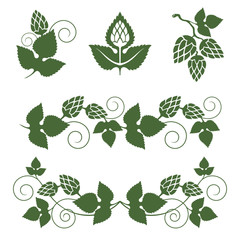 hop  borders and design elements