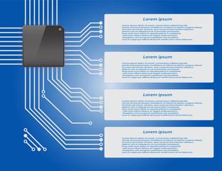 Electronics circuit board Infographics