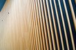 Wooden fin facade