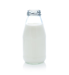 milk bottle isolated on white background