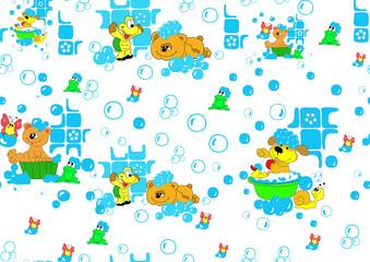 animals bathe