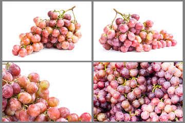collection of ripe grape fruit