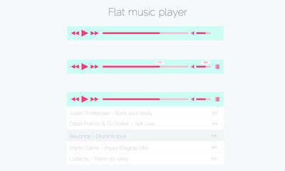 Flat music player