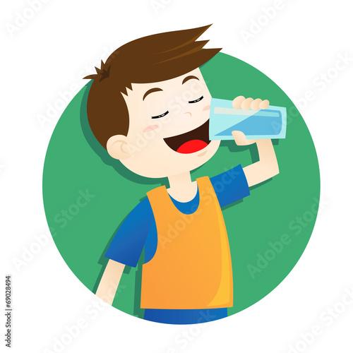 boy drinking water - 69028494
