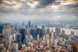 Paesaggio urbano di new york con grattacieli - Fine Art prints