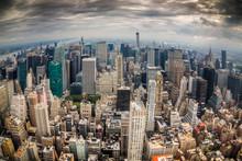Нью-Йорк городского пейзажа с небоскребами