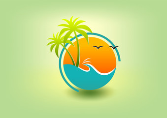 natural summer smile logo, healthy pediatric symbol