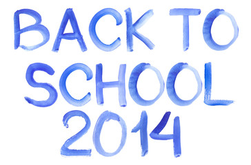 Handwritten Message Back To School Isolate White Background