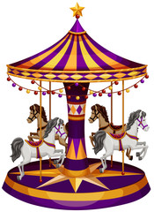 A carrousel ride