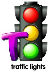 A letter T for traffic lights