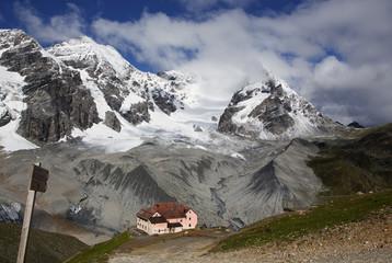Königsspitze, Ortler und Schaubachhütte