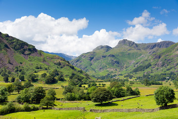 Langdale Valley Lake District Cumbria England UK in summer