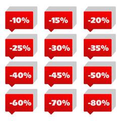 Illustration Red Price Tag set