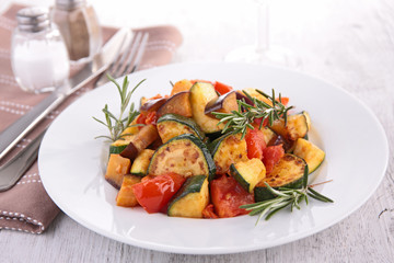 grilled vegetables, ratatouille