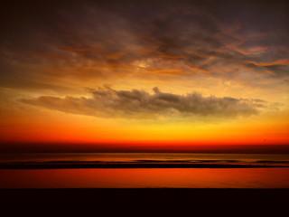 Sunrise in Rimini (Italy)