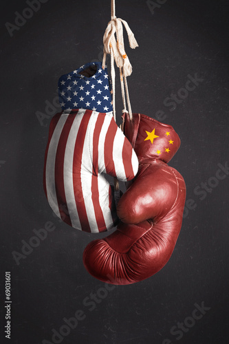 Symbol, the struggle for economic power between the United State - 69031601