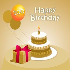 Felicitación 100 ENG