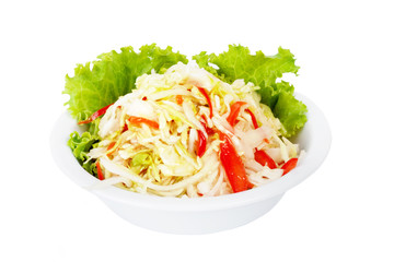 fresh cabbage salad with sweet peppers