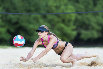 Female Beach Volleyball Player
