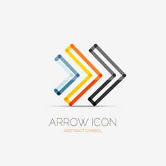 Right arrows company logo, business concept