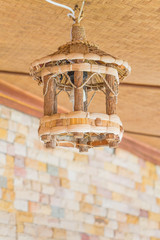 Old Wooden lamp to hanging