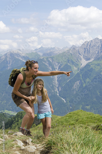 Mother and daughter in the mountains © bramgino