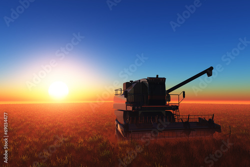canvas print picture machine for harvesting