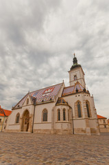 Church of St. Mark (XIII c.). Zagreb, Croatia