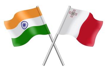 Flags : India and Malta