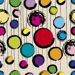 seamless polka dots pattern, vector illustration