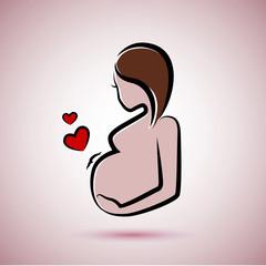 schwanger in farbe