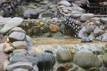 stone and waterfall