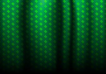 flower dark green pattern for curtains