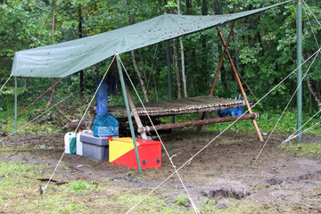 patrol corner in a scout camp of survival