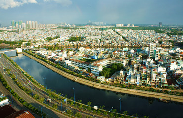 Impression panaromic of Asia city on day