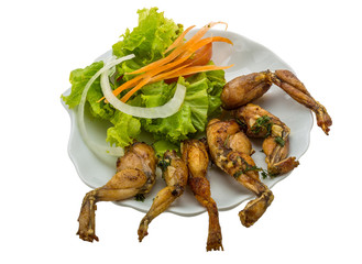 Grilled frog legs