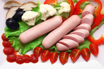 sausages with vegetables fast food delivery