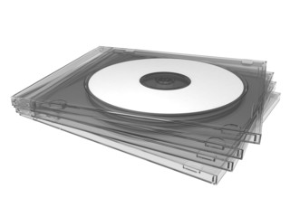 Compact disc (or CD, DVD, BD) with slim box