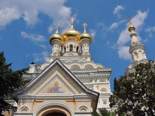 Православный собор в городе Ялта в Крыму.