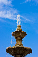 Fountain on a sky's background