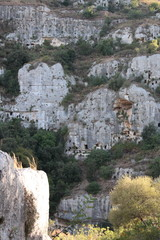 Prehistoric tombs in the Unesco site of Pantalica - Sicily