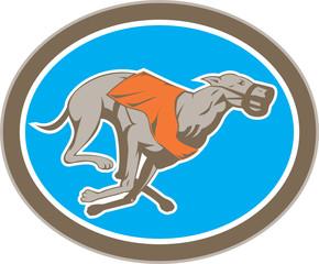 Greyhound Dog Racing Circle Retro