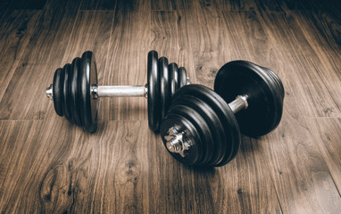 dumbbells for fitness © azure