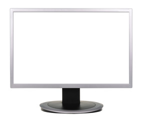 wide screen TV isolated on a white