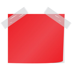 blank red post it vector