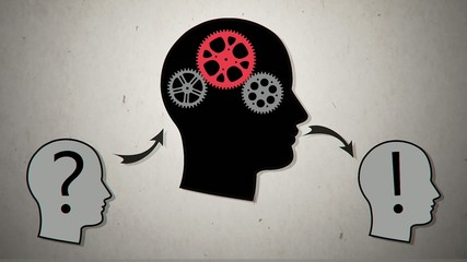 Gear head. Vector animation2