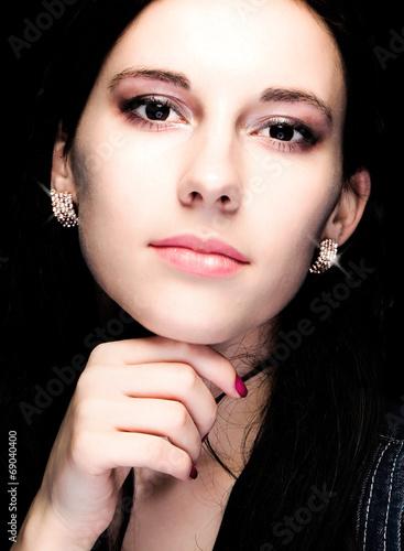 canvas print picture Portrait von schönem Mädchen